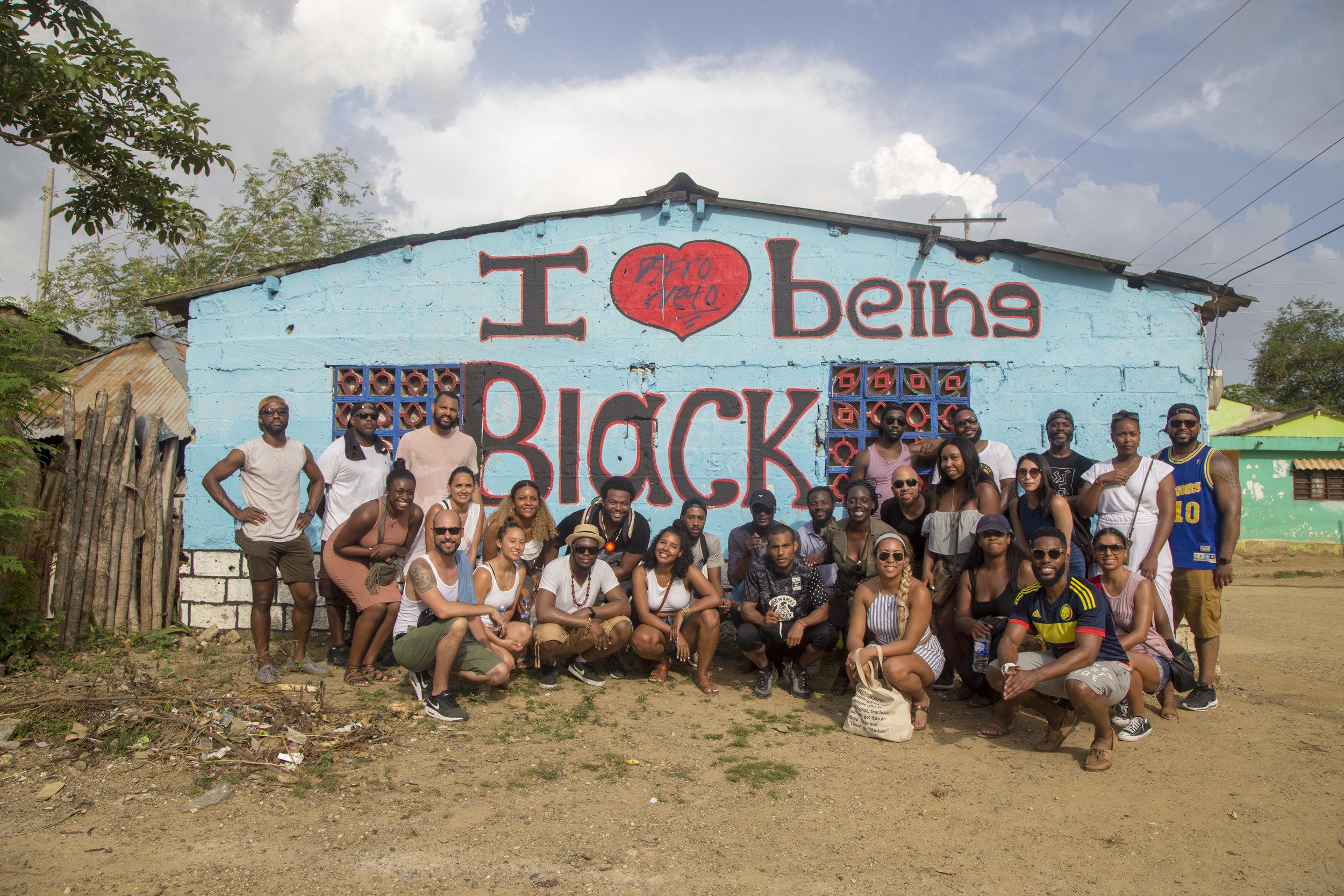 The Black Arrow group as we visited San Basilio de Palenque, Colombia.