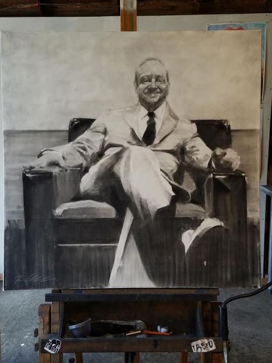 La Torre D'Avorio,  Robert Kelley   Big Stick Charcoal on Canvas