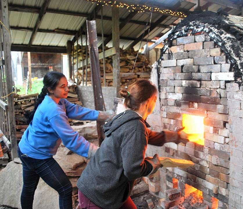 Residents firing the nobirigama