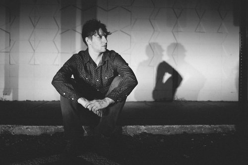 Promo photos for Minneapolis musician Chris Koza of Rogue Valley