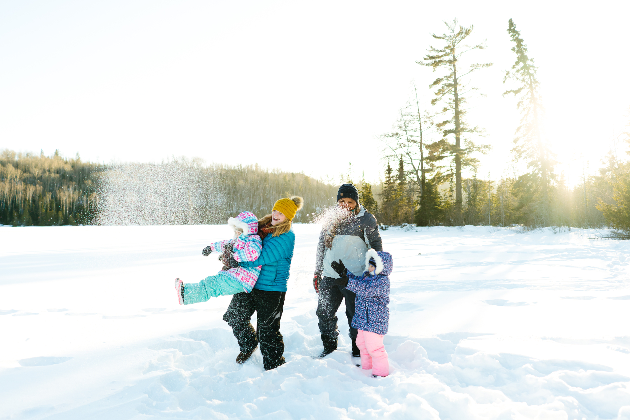 Winter Commercial Family Photo Shoot