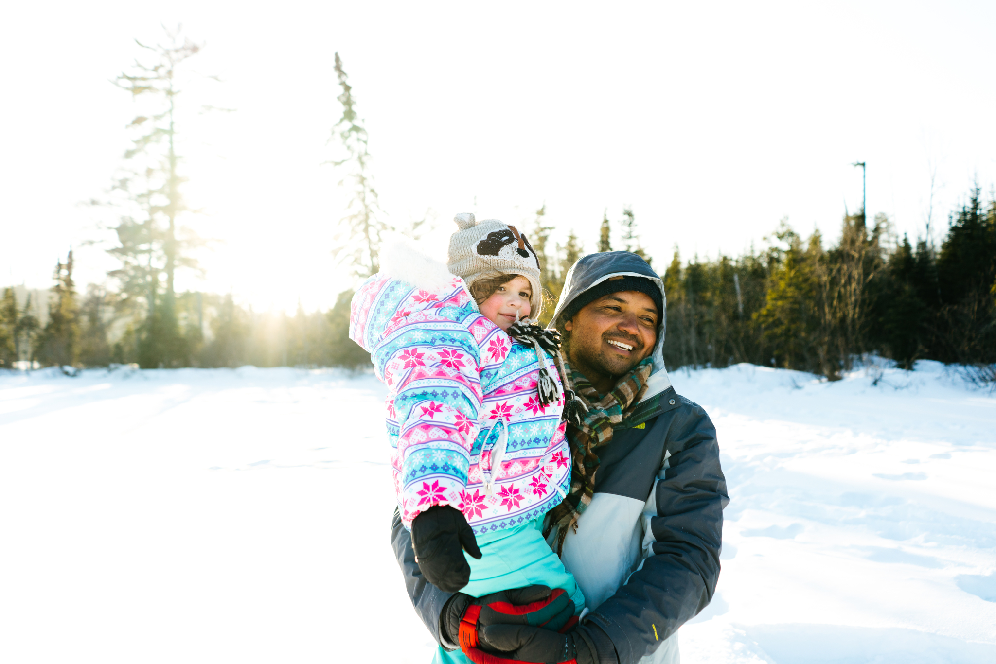 Daughter and Father in the snow