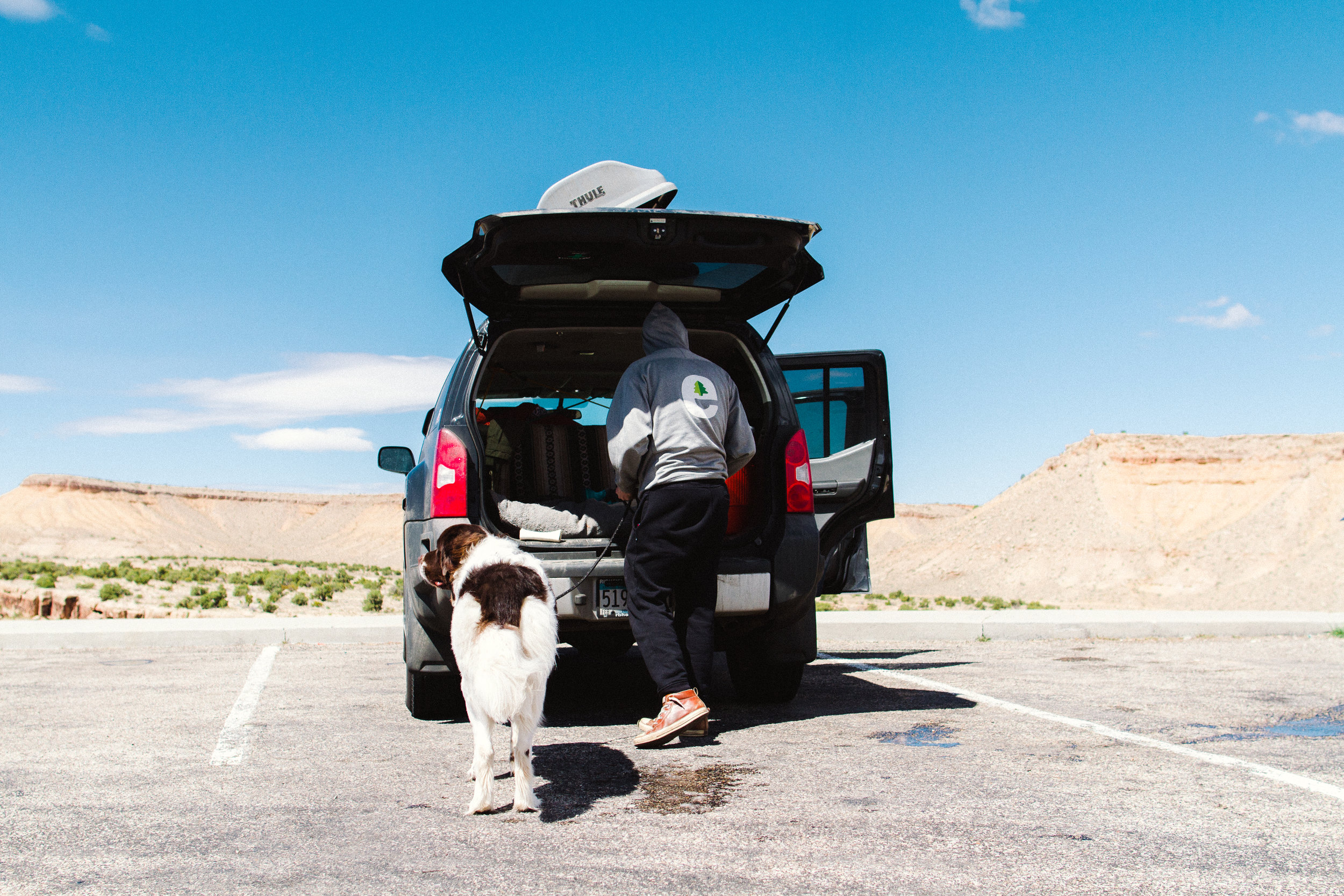 Road Trip Traveling across the country with a Newfoundland Dog by Seattle, Washington Commercial Photographer Sara Montour Lewis