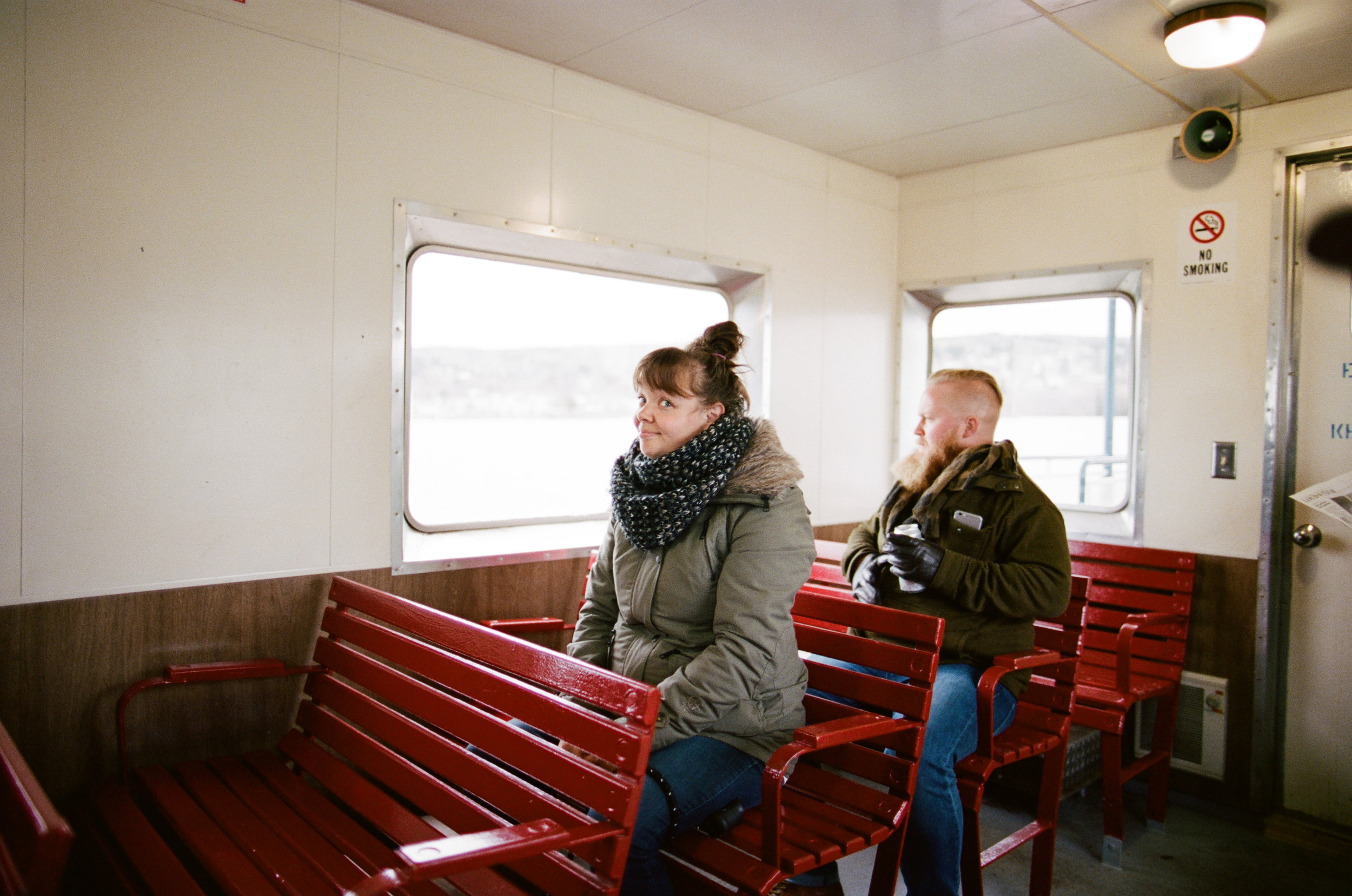 Taking the ferry from Bayfield, Wisconsin to Madeline Island