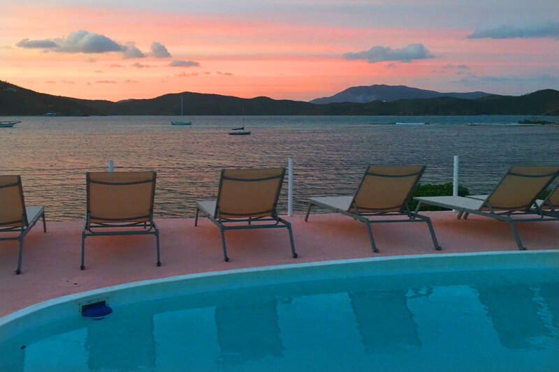 Sunset over coral bay and johnson bay-east end.jpg