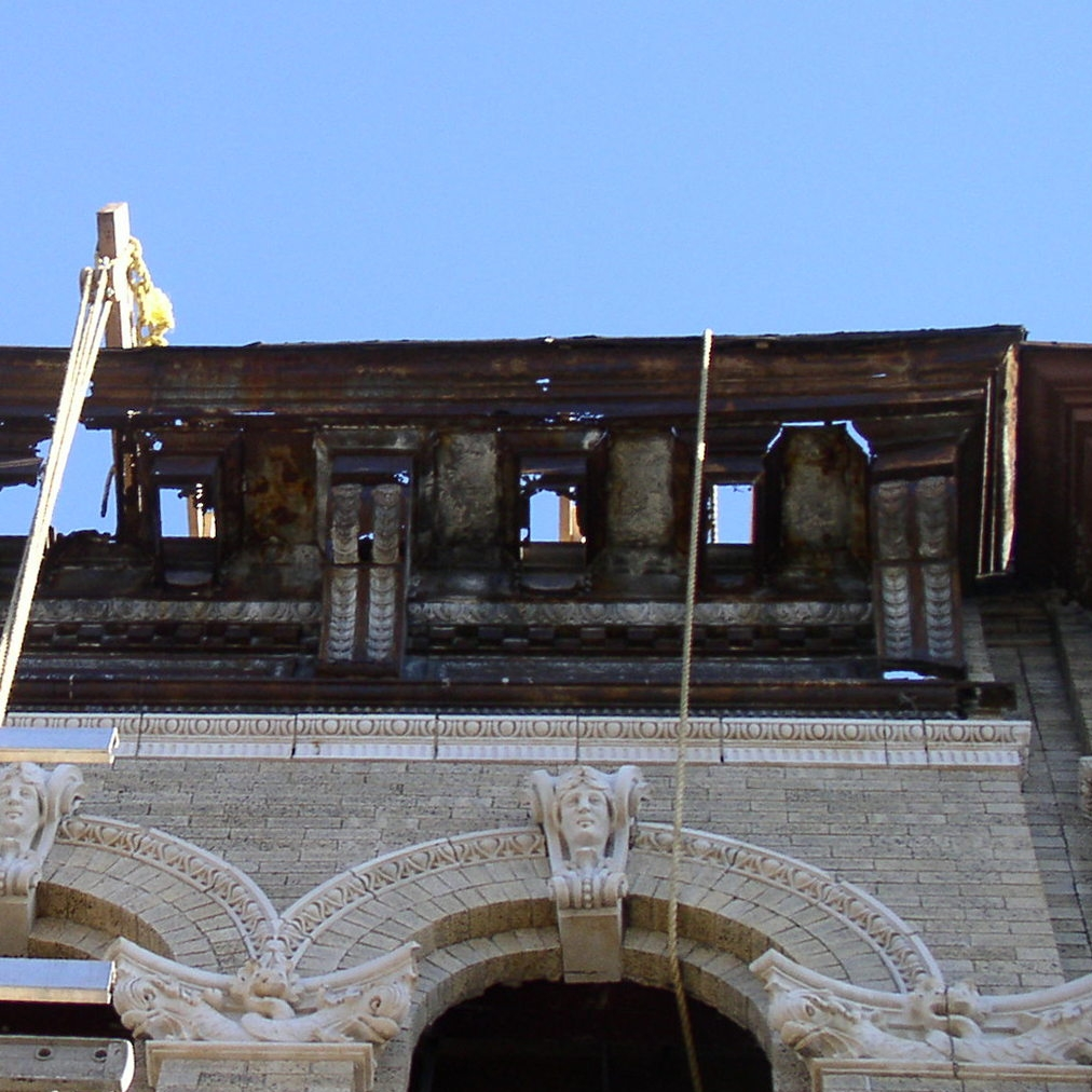 Rusted out cornice