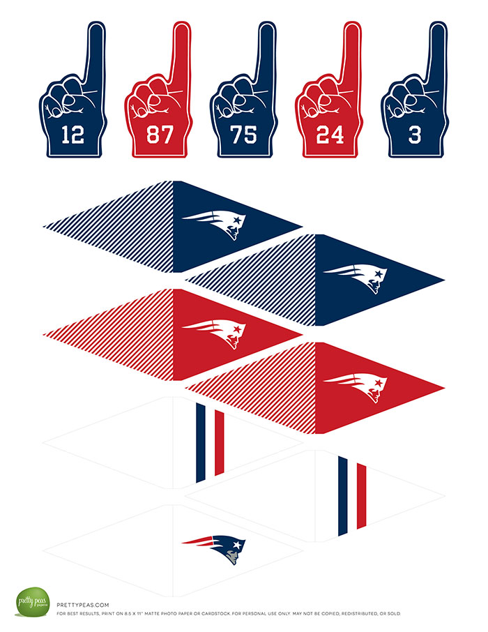 Free Printable | New England Patriots Cupcake Toppers