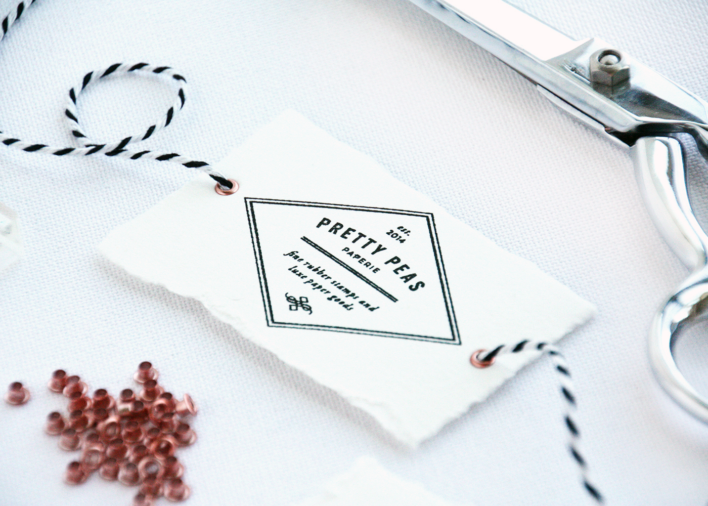 DIY Packaging with Rubber Stamps | Pretty Peas Paperie