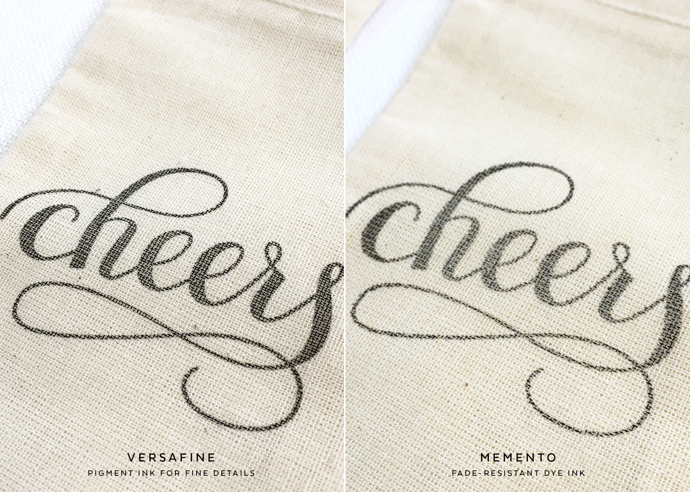 Which stamp works best for muslin bags?