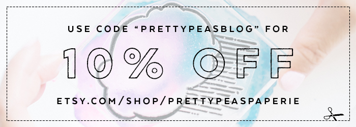 Pretty Peas Paperie Stamp Coupon