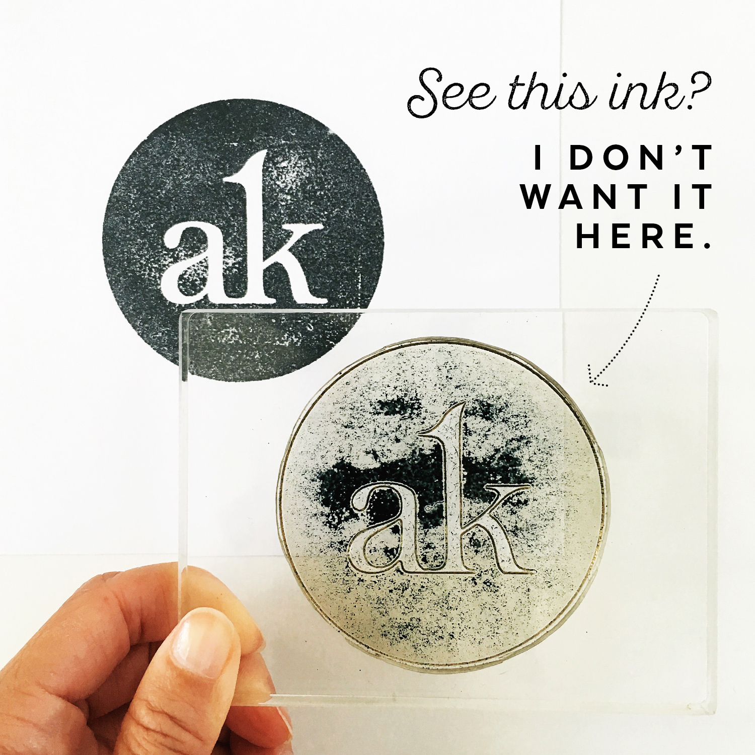 """My Secret for Fixing Missing """"Ink Splotches"""" When Using Clear Stamps"""