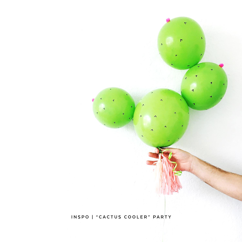 DIY Cactus Balloons | Pretty Peas Paperie