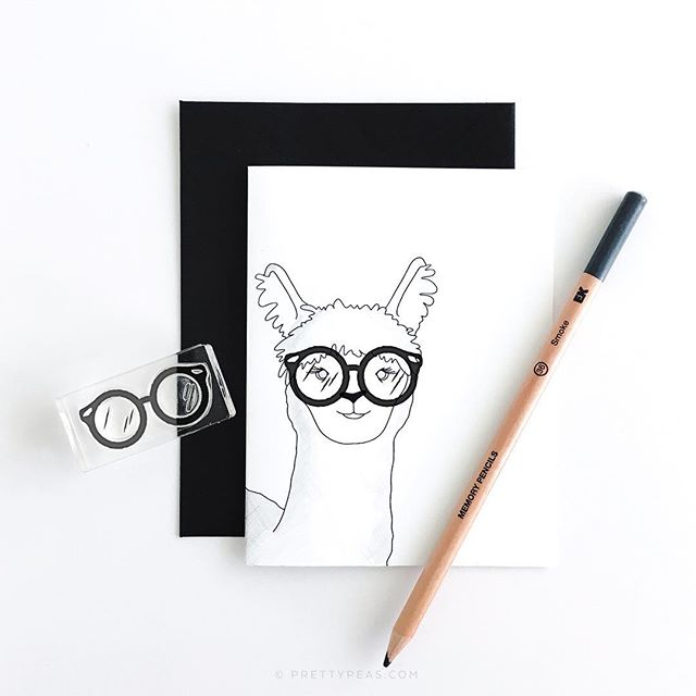 You bring the paper, alpaca the stamp. 👓 Here's your free printable card for the Medium Glasses stamp - on sale for only $8.70! Get the printable PDF here: 👉🏼 prettypeas.com/blog . Don't forget to enter the giveaway 1 post back!!! . . . . #rubberstamp #clearstamps #alpaca #llama #llamalove #glasses #sunglasses #handstamped #freeprintable #mailday #handmade #etsy #papergoods #paperlove #snailmail #snailmailrevolution #happymail #sendmoremail #penpal #stationery #stationerylove #snailmailrevival #craftsposure #flashesofdelight #stationeryaddict #shopsmall #texasmade #htx #prettypeaspaperie