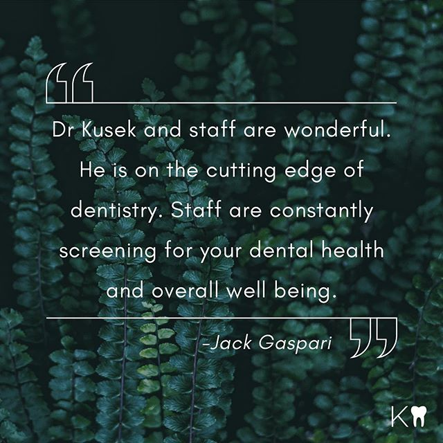 We truly are committed to staying ahead of dental trends & technology. Head to our website to read all about our office tools & technology. #KusekDentistry