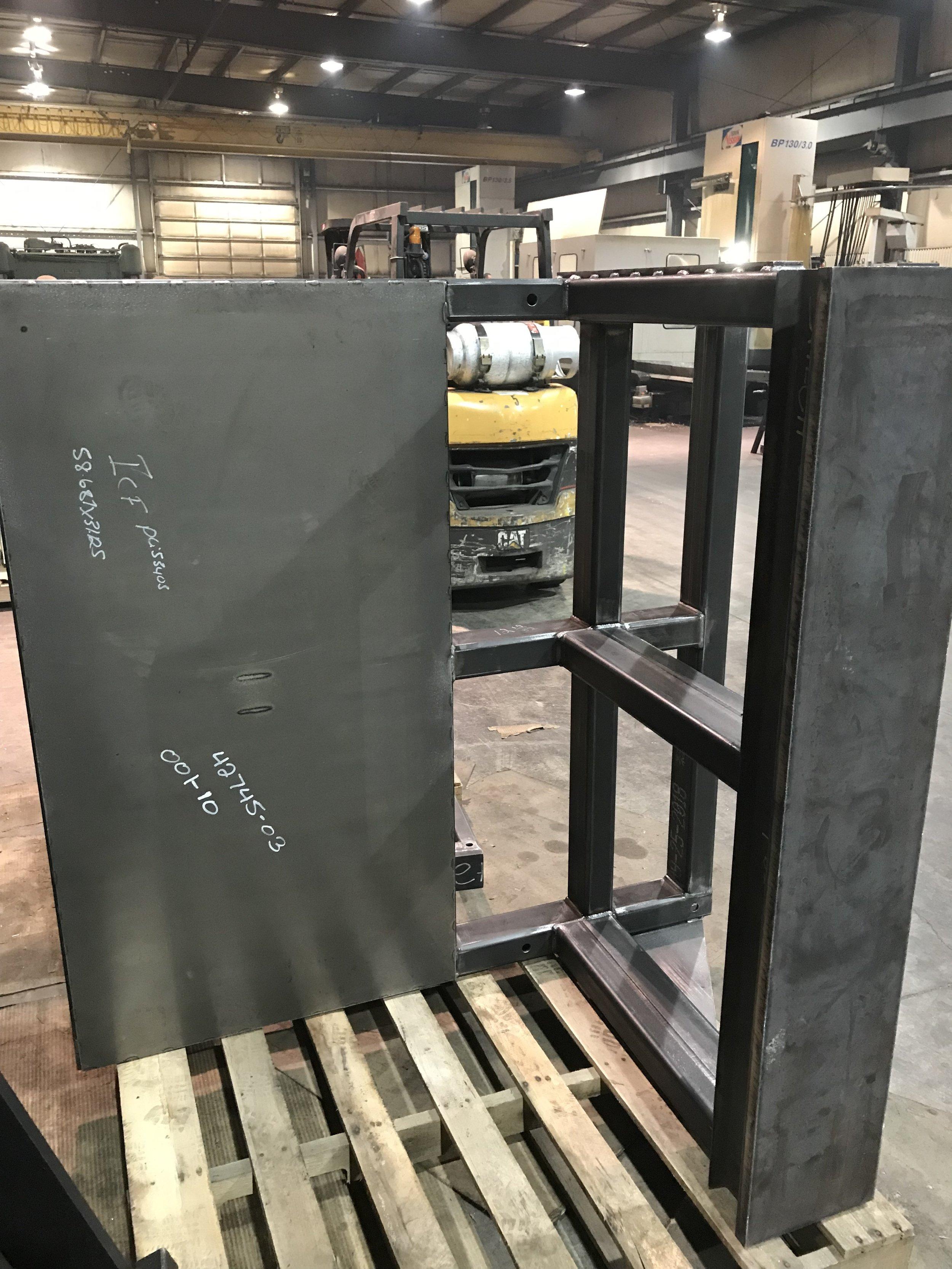Welded frame ready for Machining B ; 14 FEB 2019.jpg
