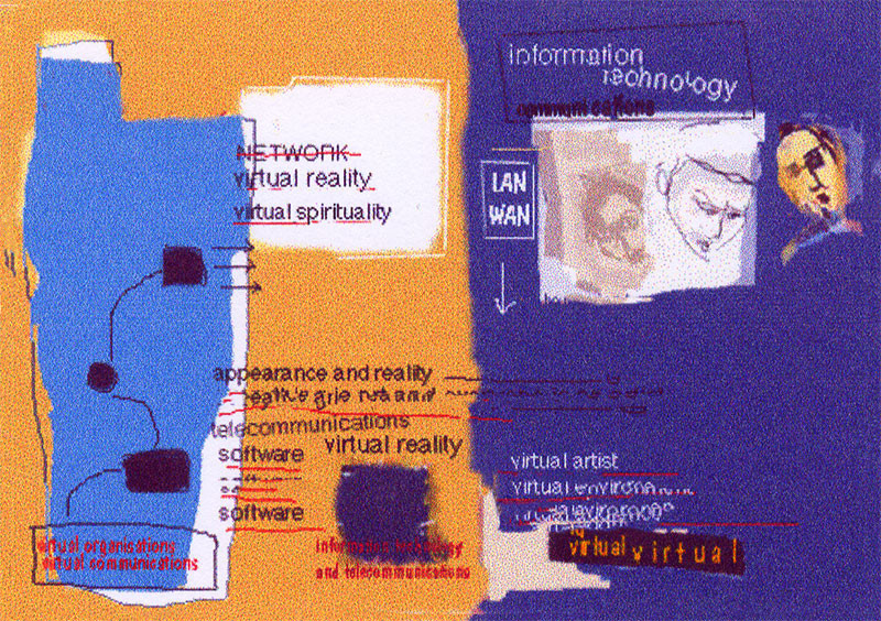 Kate Southworth,  Network  (1996), Digital Painting