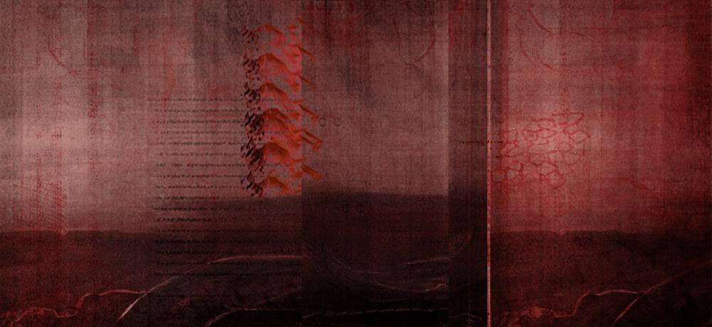 Blooded Skies   (red mountains) , 2019. Digital Painting, Cinemascope 21:9