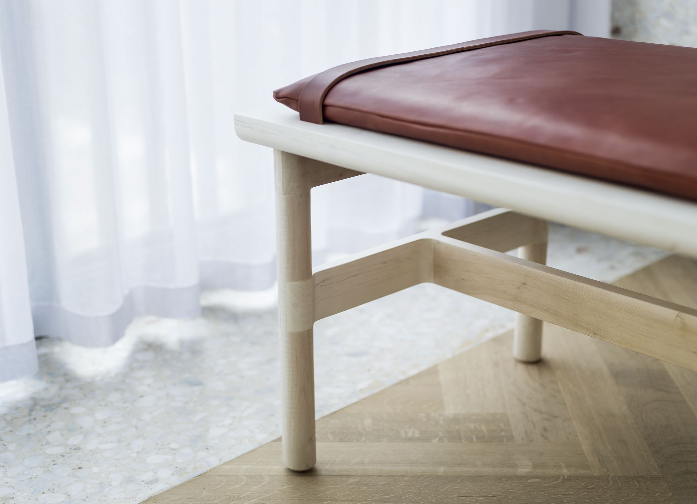 > Detail of Mae Bench for Radnor
