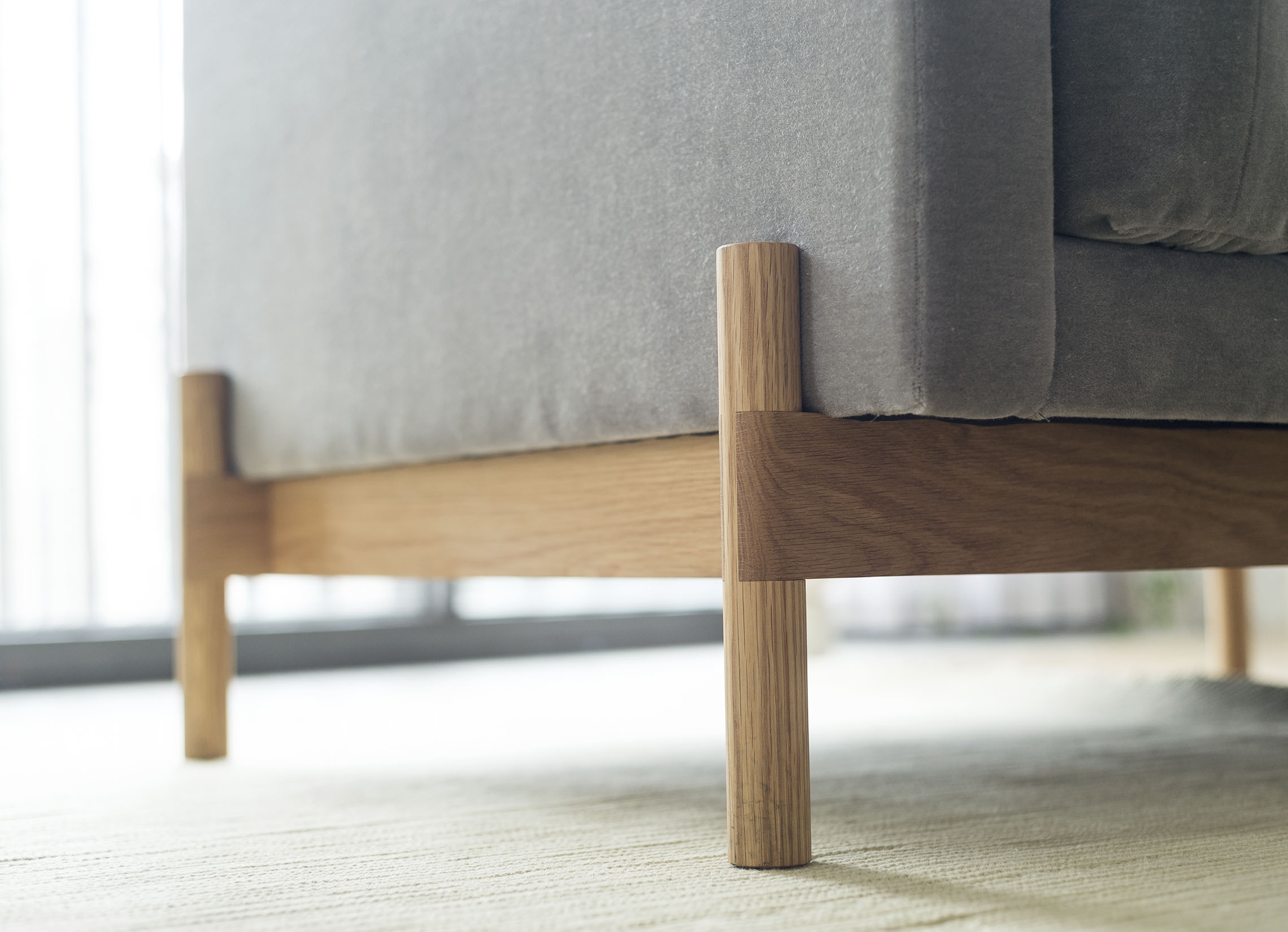 > Detail of Mae Lounge Chair for Radnor
