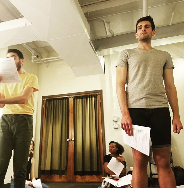 King Agamennon and Menalaos deciding the fate of Greece. #greektheatre #iphigenia #rehearsal