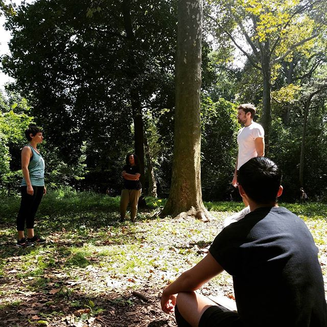 Rehearsals in the park! 5 days until opening night of Iphigenia at Aulis. #greek #theatre #nyc #brooklyn