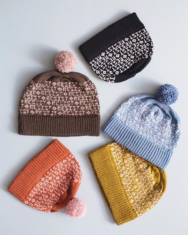 Hello friends –Jess here. For months now, our knitting community has been going through a long-overdue reckoning of who we are and what we stand for. Let me be clear –MW stands with Ravelry and our BIPOC and LGBTQ+ friends and designers in demanding representation and inclusion in this space. I haven't spoken out about this until now, and for that I'm sorry. I'm sorry for those who have had to carry this weight on their own or who felt like I've let them down. I felt like I never had the right words, and even if I did, a post on Instagram didn't feel sufficient or meaningful. But this work must sit with all of us and can't rest on the shoulders of an active few.  _ As a way to give back to the community, the Resist Hat pattern is now available as a free Ravelry download and will remain that way indefinitely. There are also new charts available that work within the pattern design – CLOSE THE CAMPS and CLIMATE ACTION NOW. Link to those charts in Google docs are available at the link in bio. _ These actions never feel big enough but it's a place to start. Thanks for reading and thanks for supporting MW. I'll be moderating comments throughout the day (Sunday) if you'd like to share your thoughts and ideas below. xx