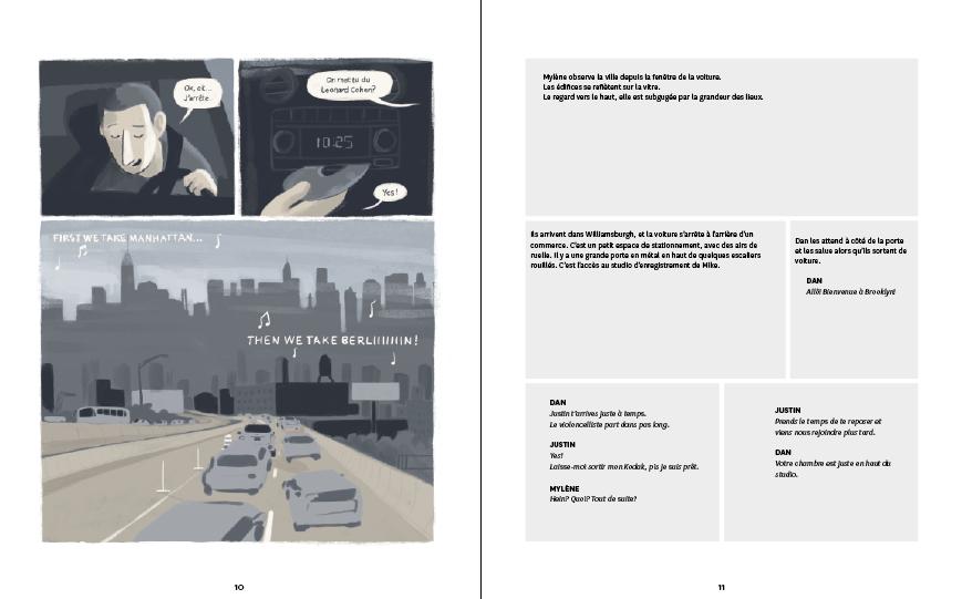 Un double page en développement sur InDesign