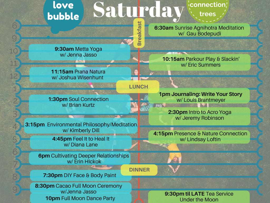 Saturday Schedule Sum18