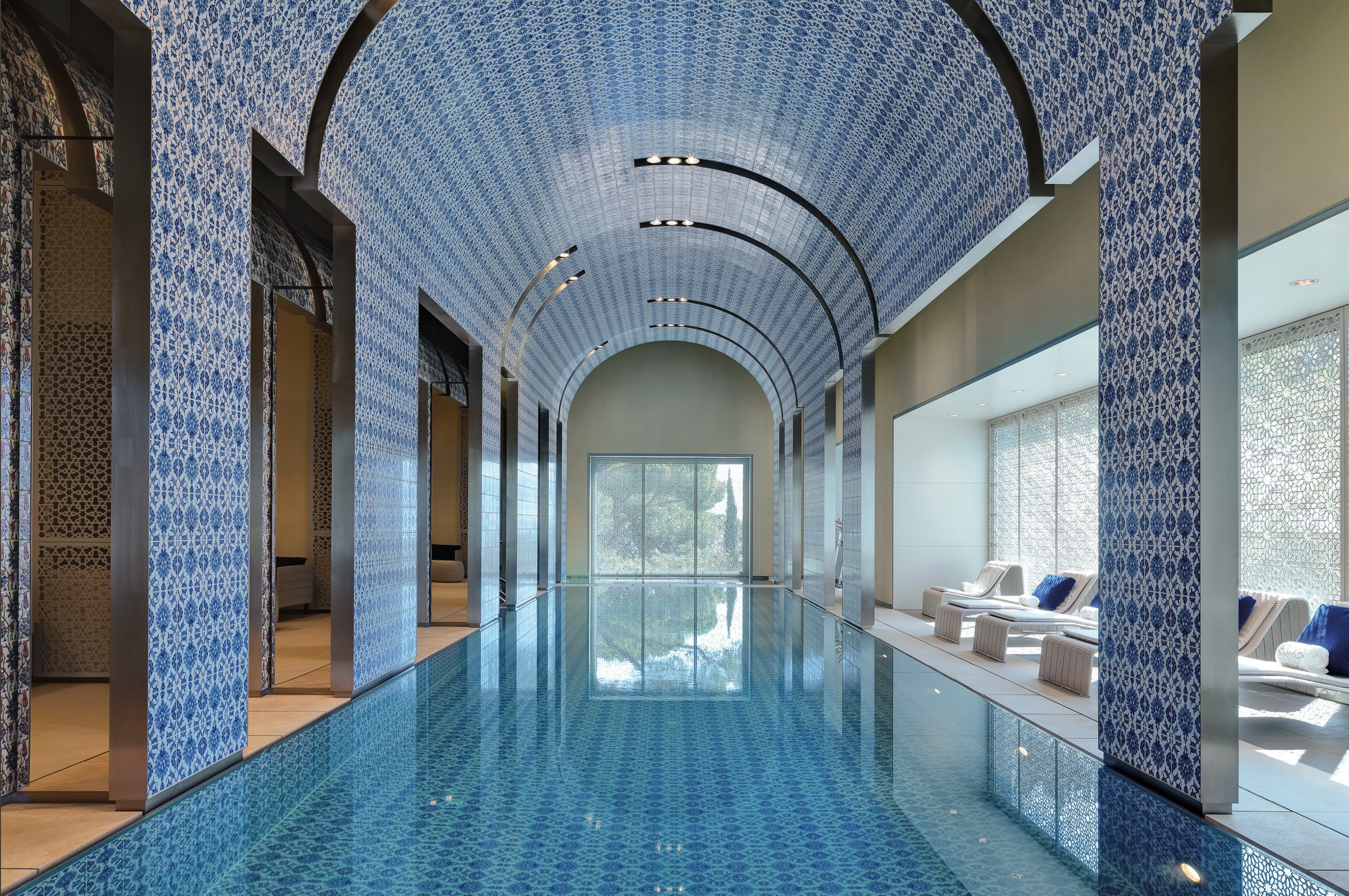 L'Espace Al Bustan / Beit Mery, Lebanon - 2015 - 2017 The spa is the combination of a contemporary and a traditional approach to wellness. Its unique architecture, is a beautiful blend of Levantine tiling and stonework with graceful Arabesques and contemporary Mashrabiyas. Its concept is based on reviving and reinventing the Hammam experience and offering the the best holistic treatments and activities available today.Role in project: Consultant, Concept Development, Financial Feasibility, Menu & Services Development, Financial Planning, Sales & Marketing Strategy Development, Opening Management Support, Human Resources Assistance.