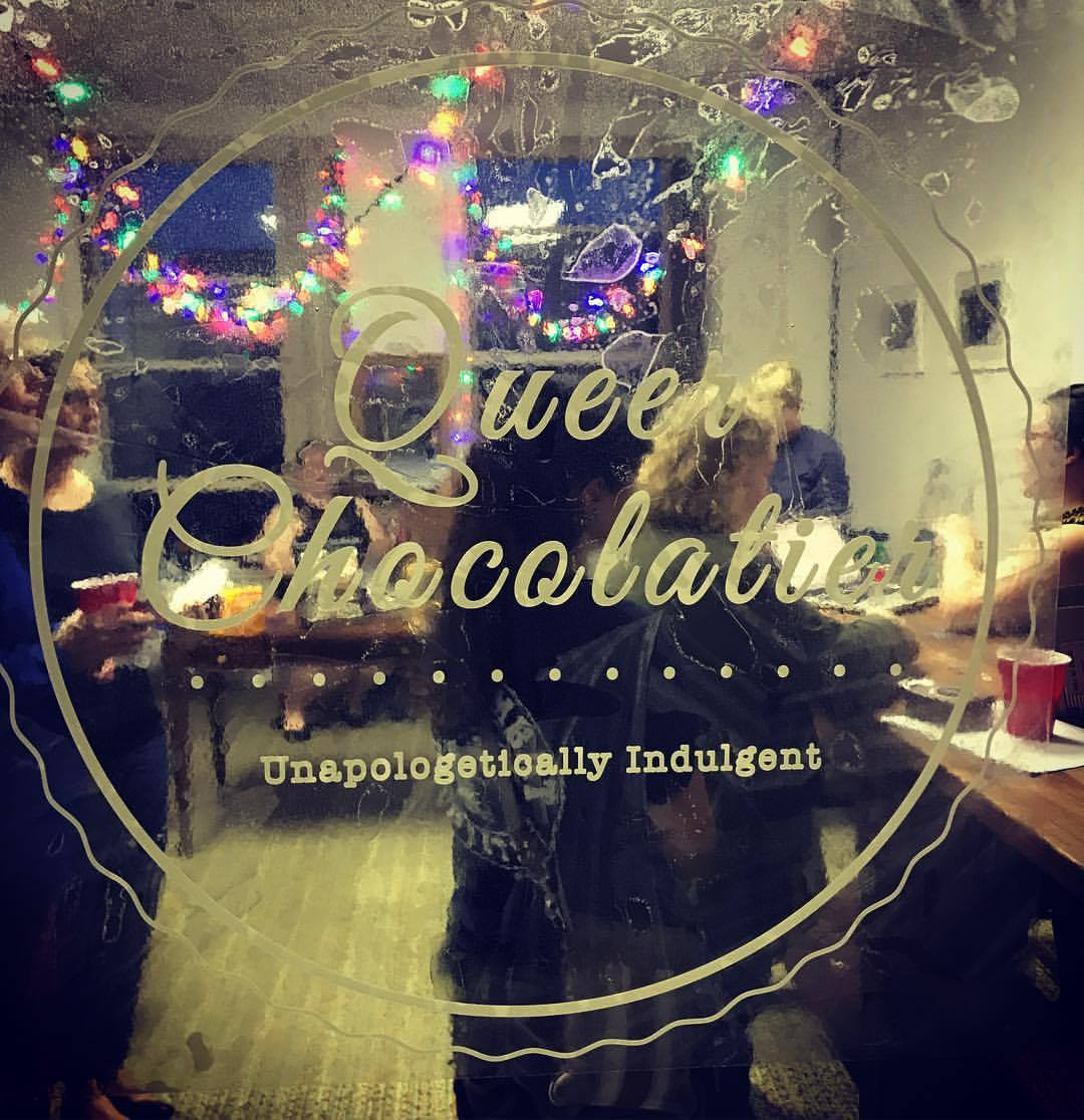 It's always warm and welcoming at Queer Chocolatier!