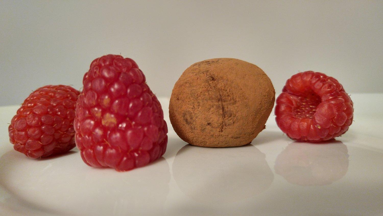 Raspberry Balsamic Truffles