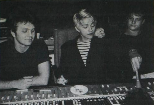 Michael Verdick with Madonna in 1986