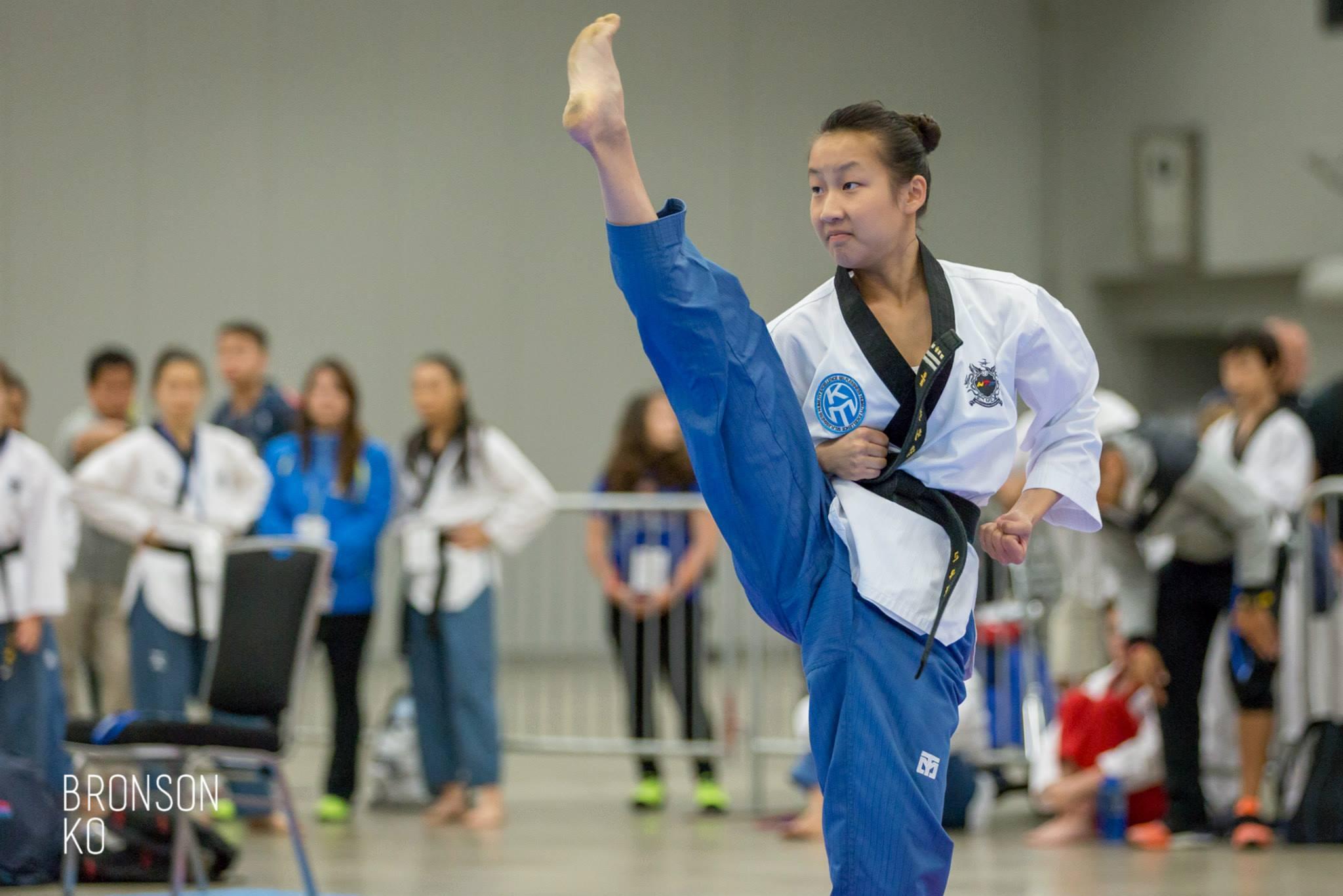 martial arts girl kicking