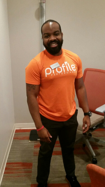 Brandon Calloway, Profile Coach, works with clients at Profile® to check all the boxes of what it means to live a healthy life. Profile by Sanford combines nutrition, activity and lifestyle into a weight loss plan that is easy to follow and made just for you. This way you can stick with your new, healthier life and keep it going well into the future.