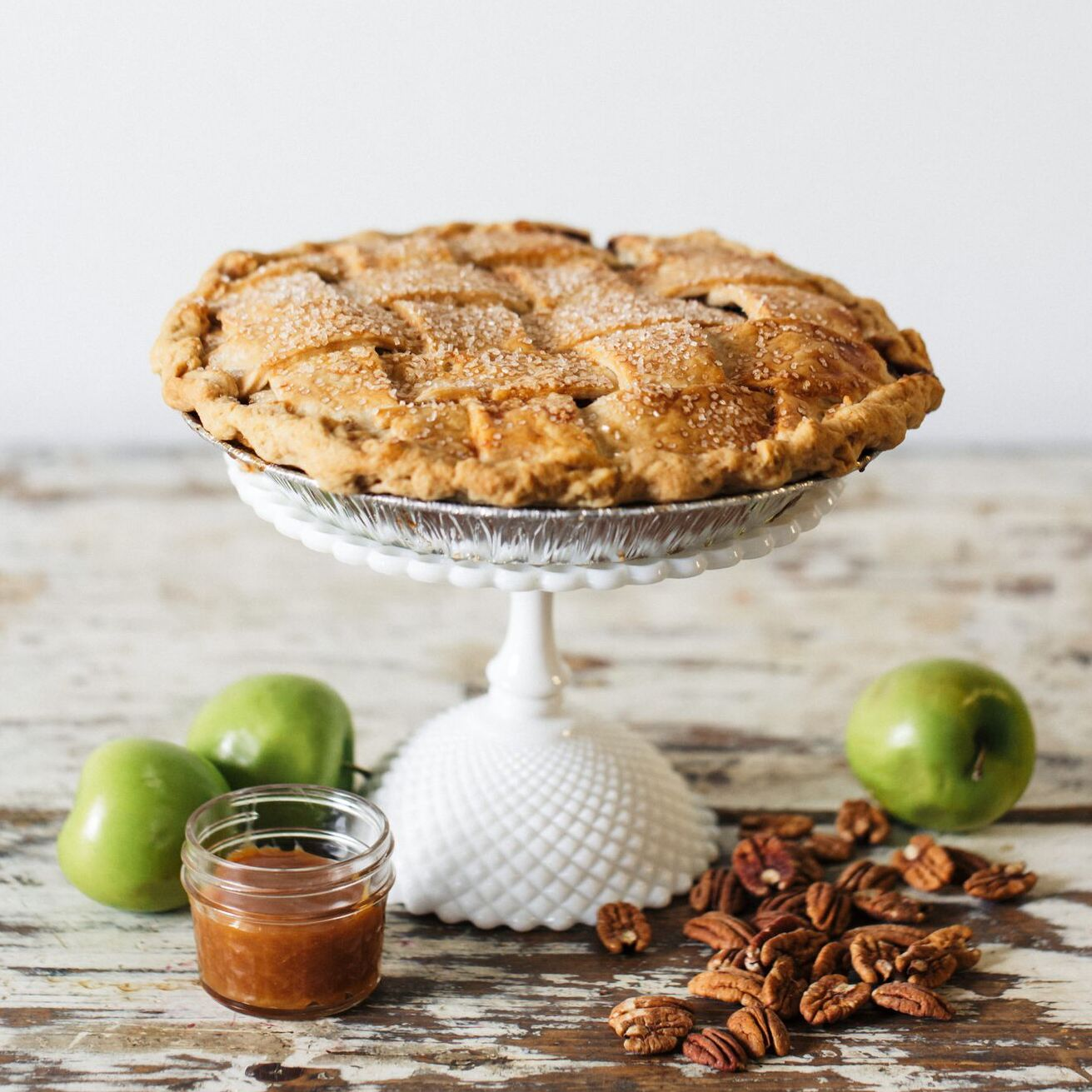 Salted Caramel Strusel Double Crust Apple Pie- $32 -
