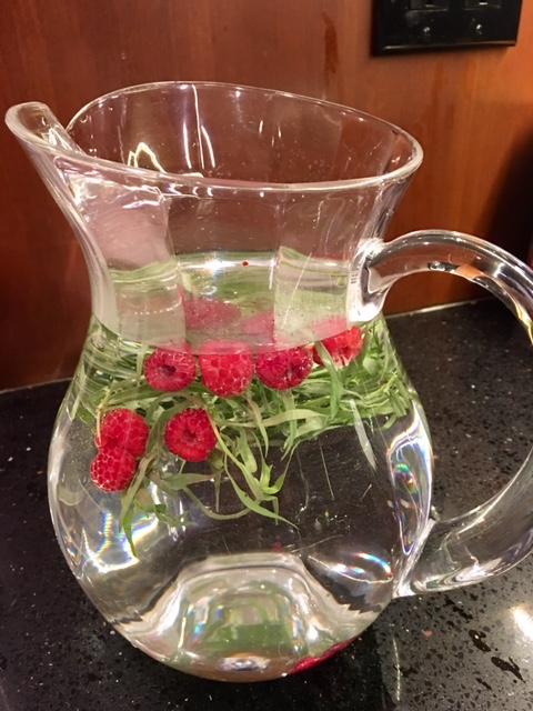 Raspberry & Thyme Water