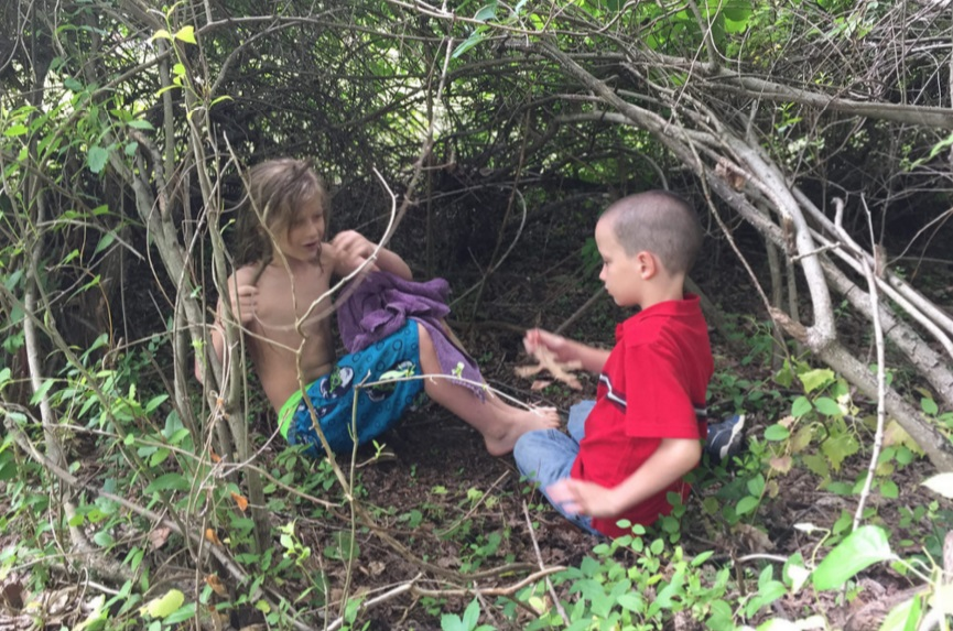 kids in some woods