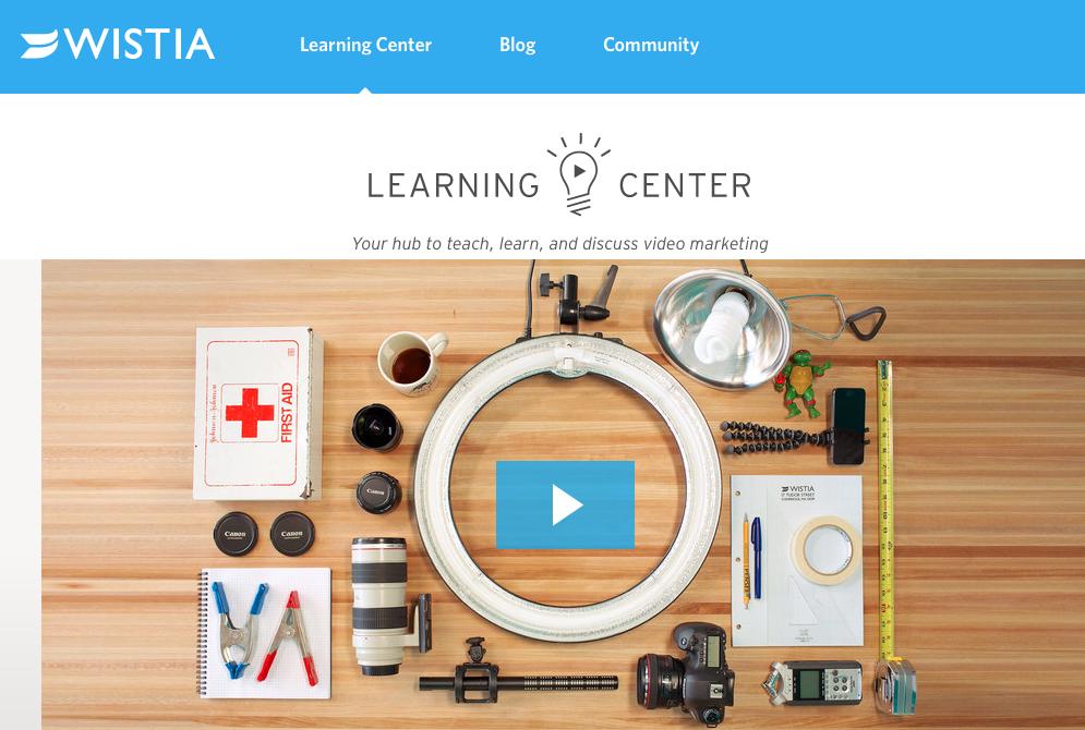 Wistia Learning Center