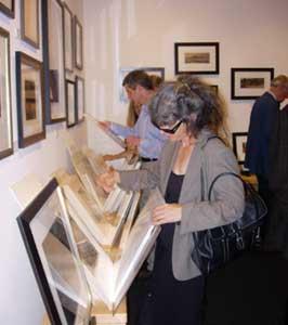 Jan Wurm at gallery opening