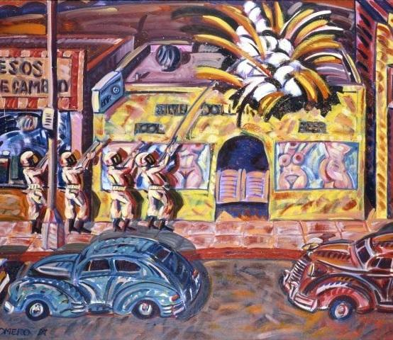 The Death of Reuben Salazar, by Frank Romero
