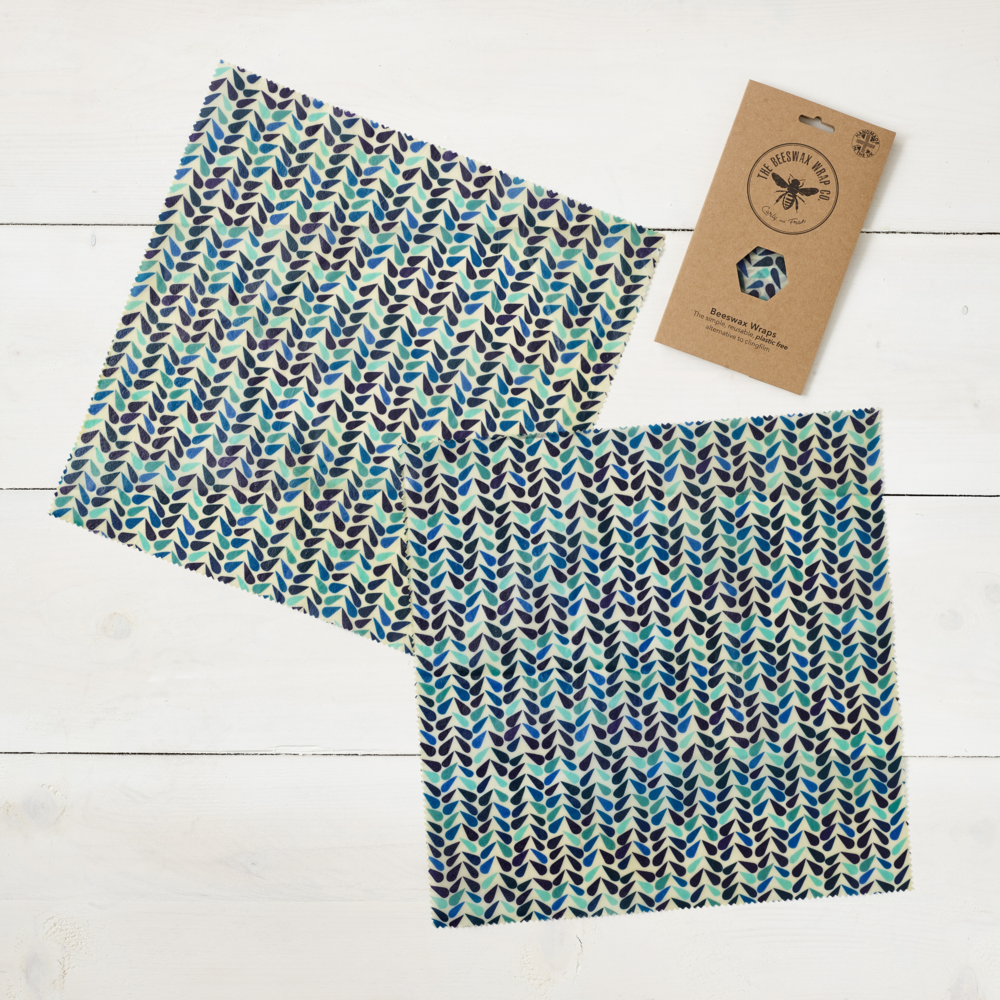 An image of Two Large Beeswax Wraps - Limited Edition
