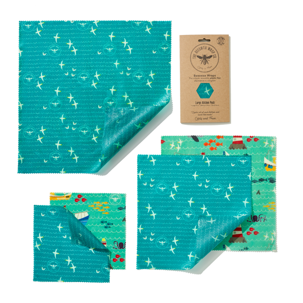 An image of Large Beeswax Wraps Kitchen Pack