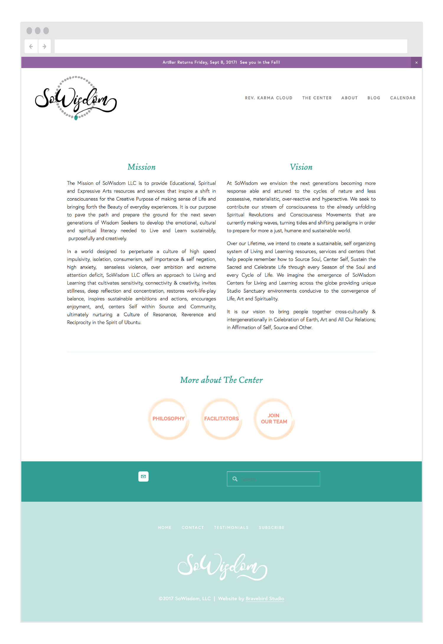 SoWisdom-mission-vision-page-Bravebird-Studio-web-design
