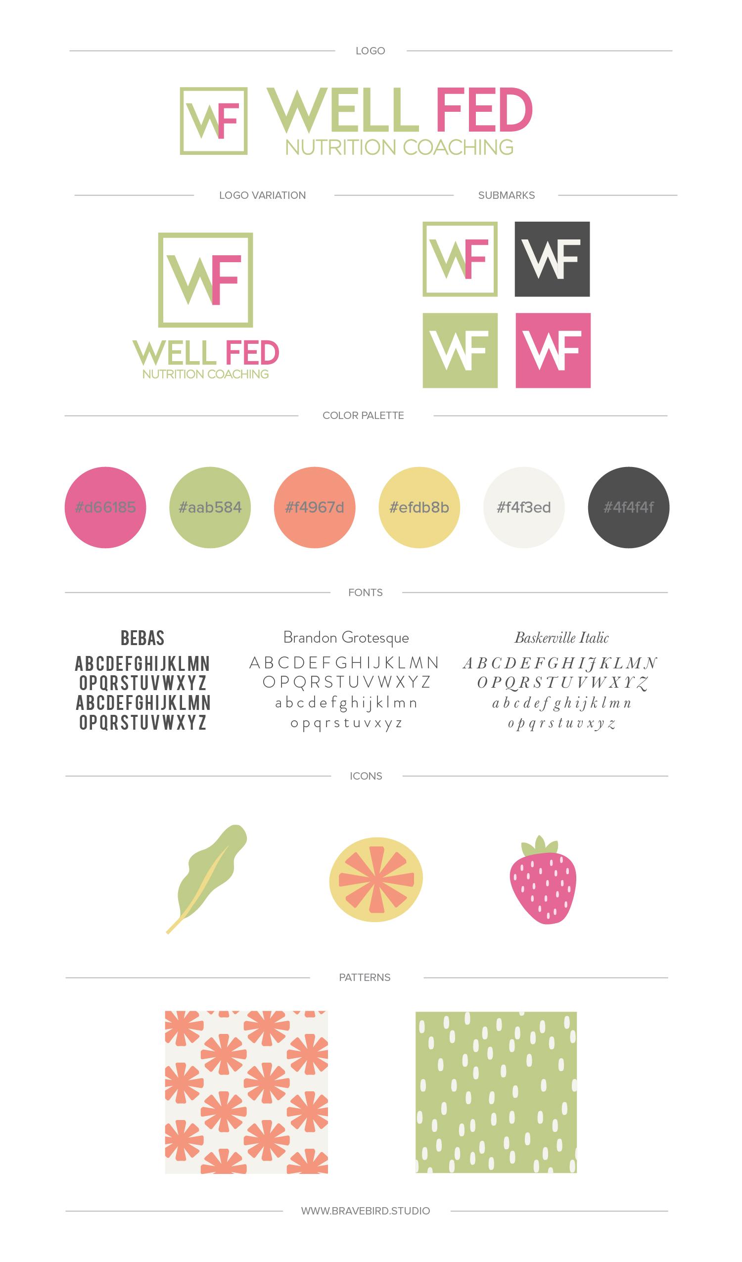 Well Fed Nutrition | Branding & Web Design | Bravebird Studio