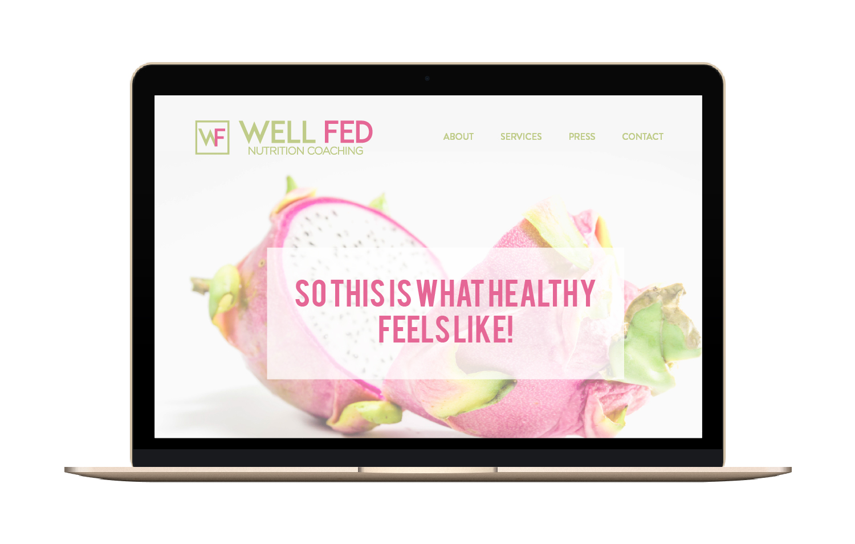 Bravebird Studio | Well Fed Nutrition - branding & web design