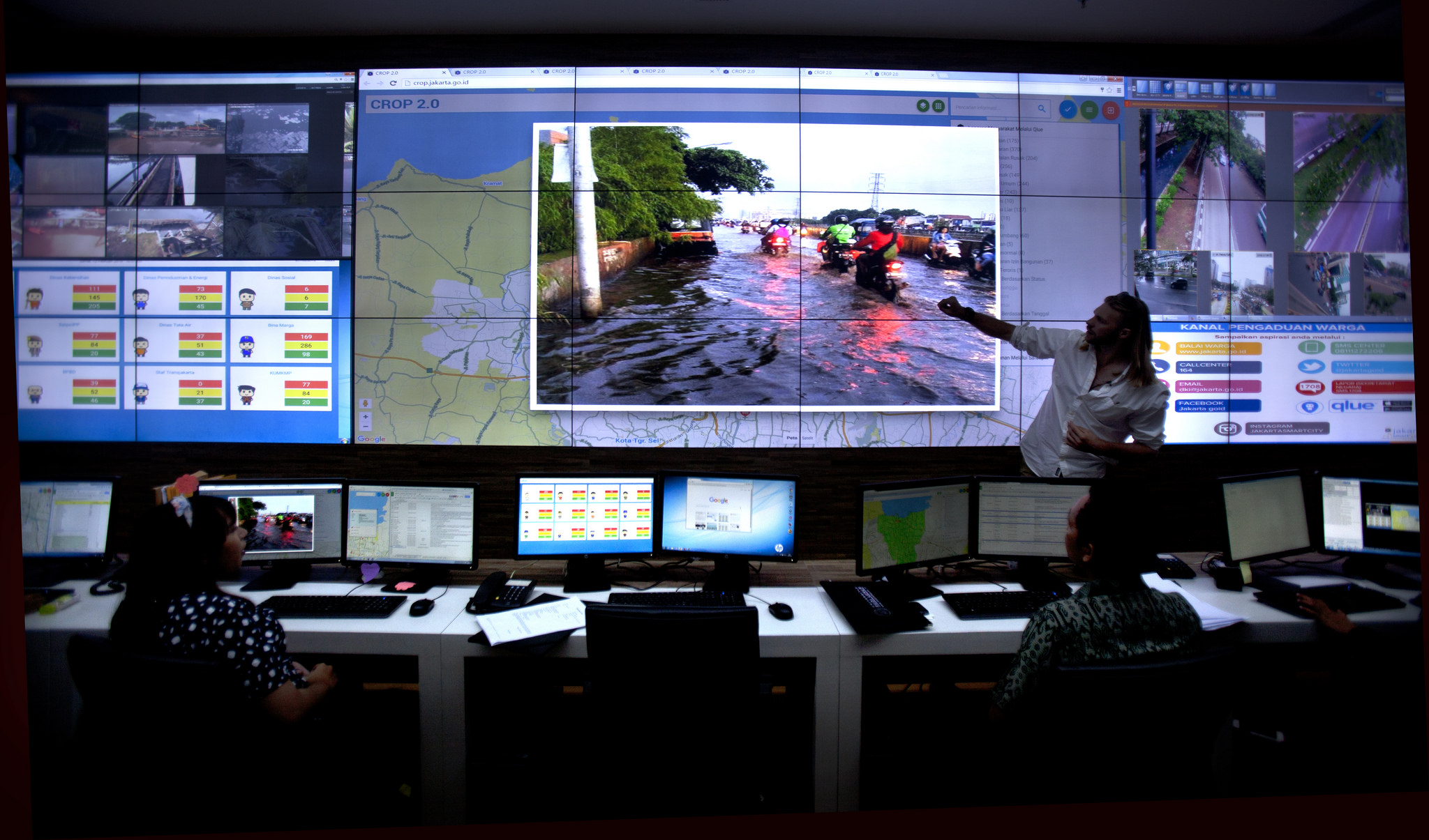 The Government of Jakarta's flood management system.