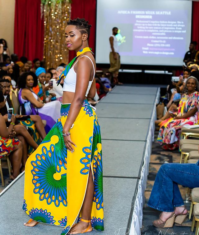 Werkkk Queen Designer: @ruth_esther_seamstress  Photographer: @scottscherer44  Model: @switypiec  Event: @africafashionweekseattle  MUA: @kendettaartistry