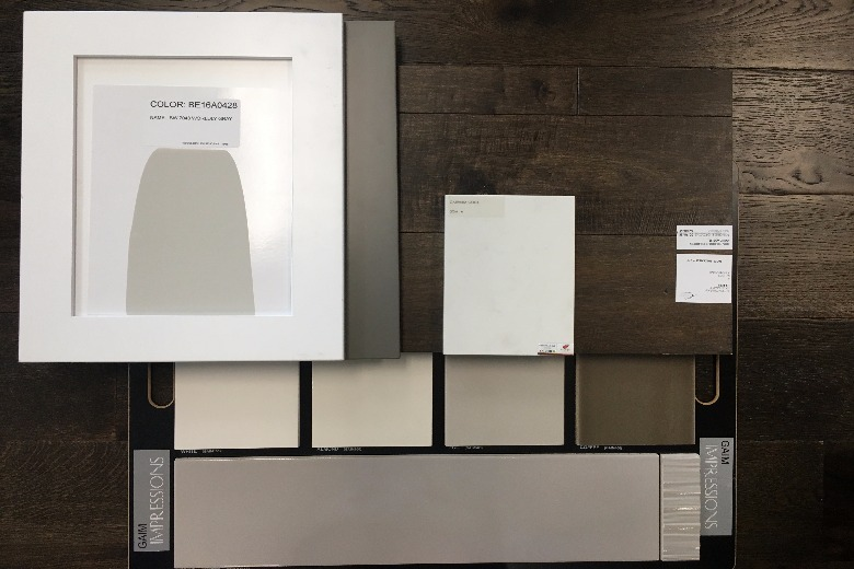 Scheme boards are a great way to determine whether your selections vibe well. One bonus of sample sizes is being able to use them as a tool for furniture shopping and paint selection.