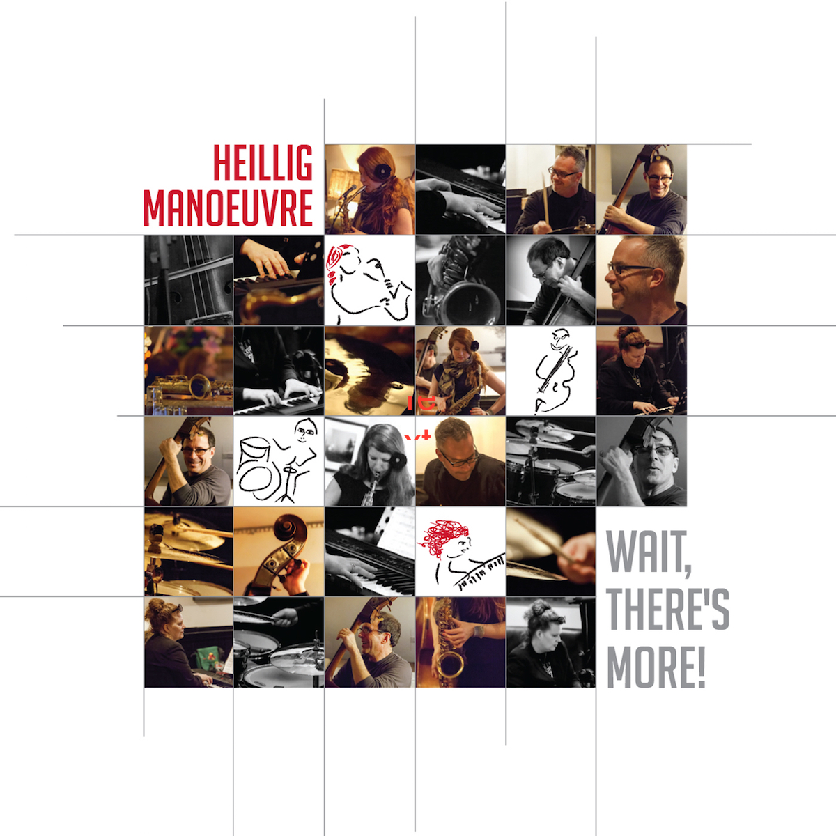 Wait, There's More! - Alison Young : SaxesStacie McGregor : Piano, RhodesCharlie Cooley : DrumsHenry Heillig : BassThis 2015 release includes a re-recording of Ladybug Waltz. As the band is now voiced by sax rather than guitar, the original version does not represent us anymore. We are pleased to note that JAZZ.FM continues to play the song, in this remodeled version.