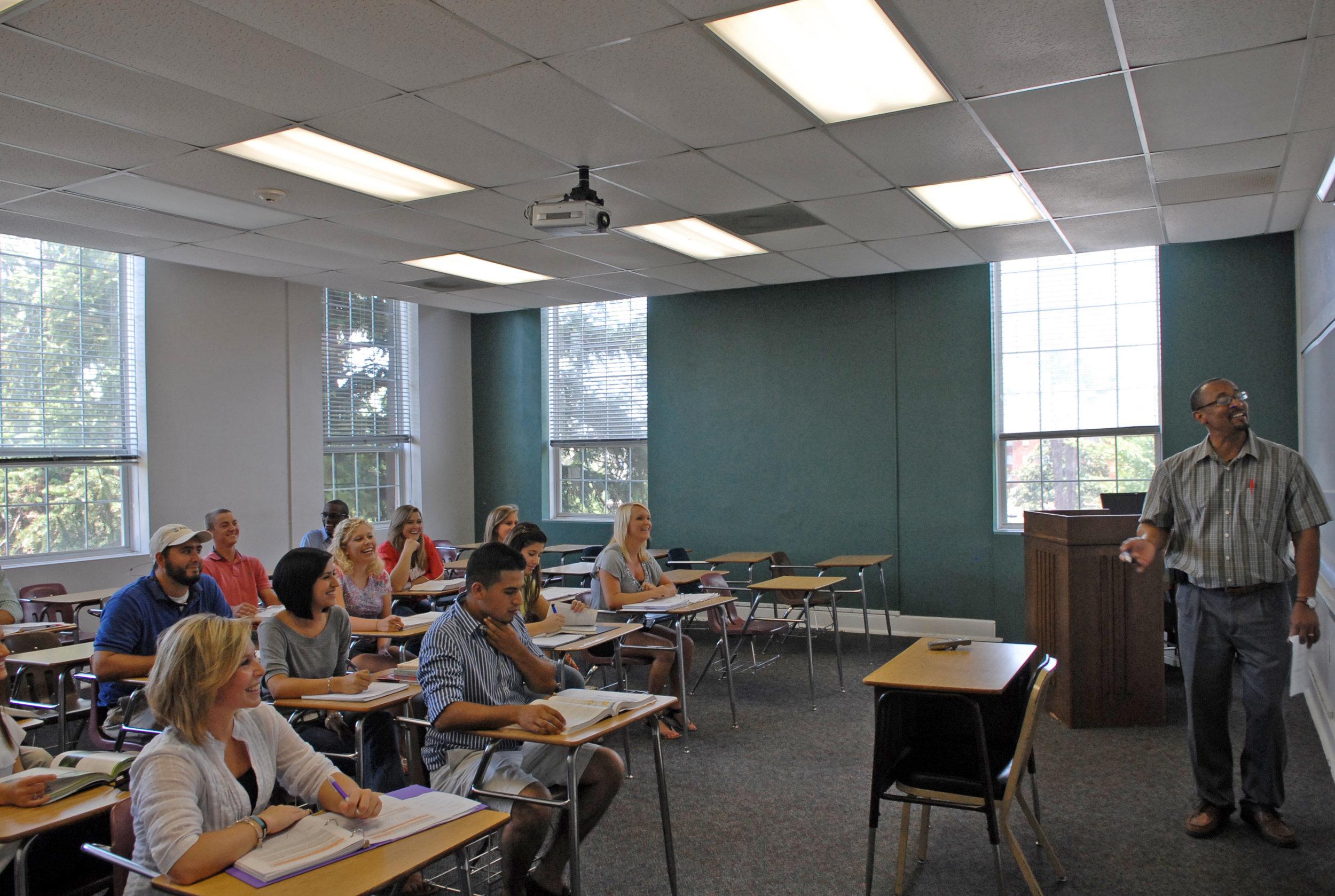 An industrial-era classroom